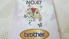 Brother Bernina White Babylock #47 Butterflies Emb Card Excellent NEW