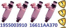 4x Fuel Injectors for Subaru Impreza WRZ STI Pink JDM STi TypeRA S202 16611AA370