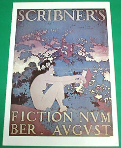 MAXFIELD PARRISH LITHOGRAPH POSTER, SCRIBNER'S FICTION