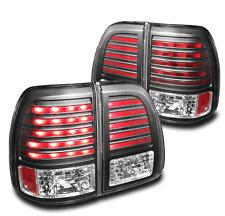 LEXUS 2003-2007 LX470 SUV BLACK SET LED REAR TAIL BRAKE LIGHTS LAMP NEW PAIR L+R