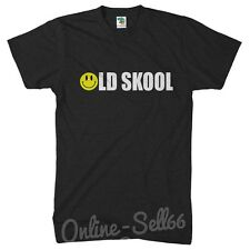 Old Skool T Shirt Mens Party 80s Acid Womens Kids Smiley Rave Disco Clubbing
