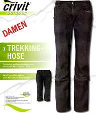 Damen Trekkinghose Jeans 2 in1 Lang 3/4 Caprihose Hose Wanderhose Zipp Off  NEU