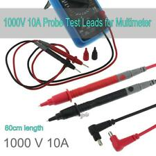 Universal Digital Voltmeter Multimeter Leads Probe Test Cable Lead Cord Clip 10A