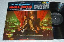 HNOS. ORTIZ Baile En El Panorama Y Sus Pianos Magicos AUTOGRAPHED LATIN LP
