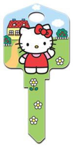 Hello Kitty's House -  House Key - Collectable Key - Kitty White - Suits LW4