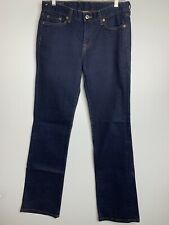 Lucky Brand Jeans Size 4 / 27 Dark Wash Pockets Stretch Straight Leg Low Rise Q