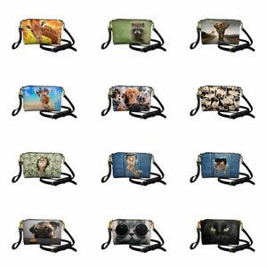Animals Women Leather Handbag Crossbody Messager Bag Casual Purse Multi-purpose