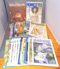 Lot of (24) Gardening Magazines - Garden Gate, How-to, Harrowsmith, Flowers