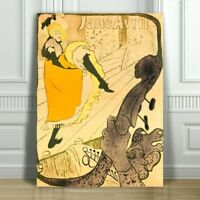 TOULOUSE LAUTREC - Jane Avril - CANVAS ART PRINT POSTER - 10x8""