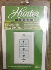 HUNTER Ceiling Fan & Light Wall Control with Wireless Recceiver 2-Wire 99375