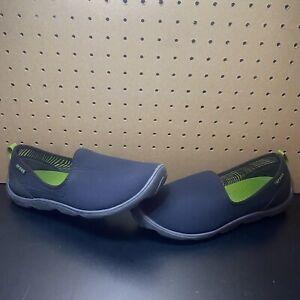 Women's Crocs Duet Busy Day Skimmer Slip On Shoes Size 11 Black/Gray 14698