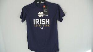 New Under Armour University of Notre Dame Irish youth boys t-shirt shirt YMD M
