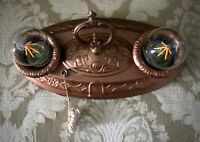 ANTIQUE ART DECO, 1920's  FLUSH MOUNT CHANDELIER CEILING LIGHT FIXTURE