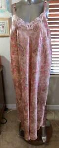 Cabernet Pink Print Polyester Nightgown Size 2X # 091007