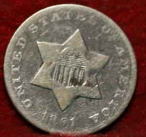 1851-O New Orleans Mint Silver Three Cent Coin