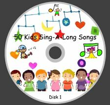 50 CHILDREN'S FAVORITES SINGALONG SONGS/NURSERY RHYMES ON 1 AUDIO CD'S Disk 1
