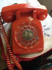 Antique Orange Dial Up Phone