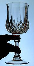 Cristal d'Arques LONGCHAMP 24% lead crystal WATER GOBLET STEM glass FRANCE 8oz