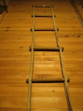 Rare Original Antique Nautical Ship Jacobs Ladder Ocean Diving Wooden With Steel
