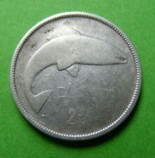 1928 Irish Silver Two Shilling Florin Coin First Year Issued Old Ireland 2s