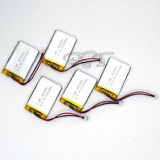 5 un. 603450 3.7V 1200 mAh batería recargable de polímero PCM Conector Para Gps