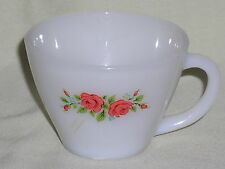 Fire King Red Rose Pattern Cup
