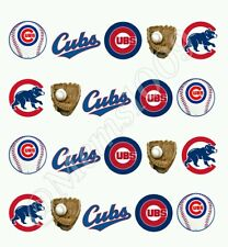 Chicago Cubs Nail Art (water decals) Base ball Nail decals. Free Shipping!