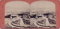 Marsiglia Panorama Del Vecchio Port Stereo Vintage Albumina Ca 1870