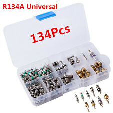 134x Car 9kinds R134 A/C Air Conditioner Schrader Assortment Valve Core Tool Kit