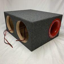 "Dual JL Audio 13W7 Custom Ported Box w7 13W7AE Enclosure SPL & SQL 8"" Aero Port"