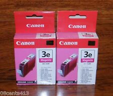 2 Genuine Canon (BCI-3eM) Magenta/Color Ink Cartridge (4481A003) Sealed In Box!