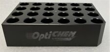 Chemglass Optichem 24 Position Block For 15 X 45mm 1 Dram 4ml Flat Bottom Vial