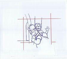 Simpsons Homer Marge Original Art Animation Production Pen Rough Comps 91