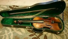 Caspar da Salo Brescia 1590 Violin with one bow.Early 1800's German violin