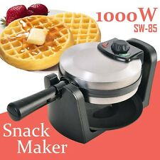 Round Waffle Maker Stainless Non-stick Plate Temperature Controller Kitchenware