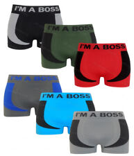 3 Pairs Mens Seamless Fit Boxer Shorts Trunks Briefs Adults Designer Underwear