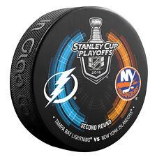 2016 Tampa Bay Lightning vs New York Islanders Stanley Cup Playoffs Hockey Puck