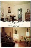 Vintage Postcard Birthplace of Dwight D. Eisenhower Denison Texas K2