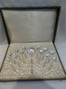 Gorgeous late 19th c French 800 silver 13p tea set art nouveau russian handle