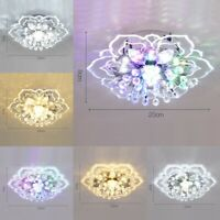Modern Crystal LED Ceiling Light Fixture Aisle Hallway Pendant Lamp Chandelier