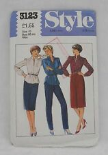 VTG 1980s STYLE 3123 SEWING PATTERN MISSES BLOUSE SKIRT TROUSER SIZE 10