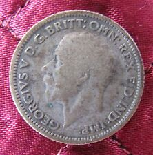 1929 CIRCULATED GREAT BRITAIN GEORGE V SILVER SIX PENCE COIN