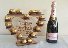 """Joyeux Anniversaire Maman"" coeur Ferrero Rocher display stand, pyramide arbre détient 30"