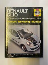 Haynes 4788 Manual for Renault Clio Petrol & Diesel 2005-2009