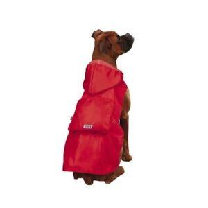 Kong Stowaway Jacket for Dogs Red Windbreaker Raincoat Rain choose Red or Blue