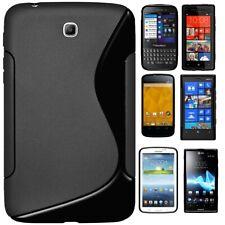 Amzer negro funda híbrida de TPU para Galaxy Tab Blackberry HTC LG Motorola Nokia Sony