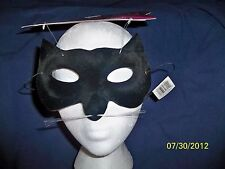 BLACK VELVET KITTY CAT EYE HALF MASK COSTUME DG10486 NEW