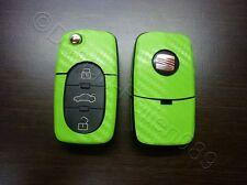 Carbon verde decoración clave lámina Seat Leon Golf Passat VW Bora polo Skoda