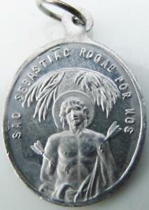 Vintage St. Sebastian & St. Francis Assisi Holy Medal Sebastiao Bastien Martyr