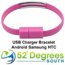 Android Cargador Cable Pulsera-Surtido Colores-Android HTC Samsung Sony